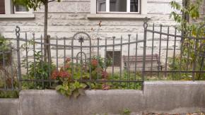 Beim Flanieren durch die Strassen von Zürich gesehen: Ein Zaun markiert die Grenze zwischen öffentlichem und privatem Raum. Foto: Judith Stofer