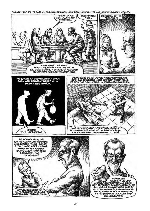 Excerpt from ‹Ein iranischer Albtraum› (‹An iranian nightmare›) by Mana Neyestani, Edition Moderne, Zurich 2013