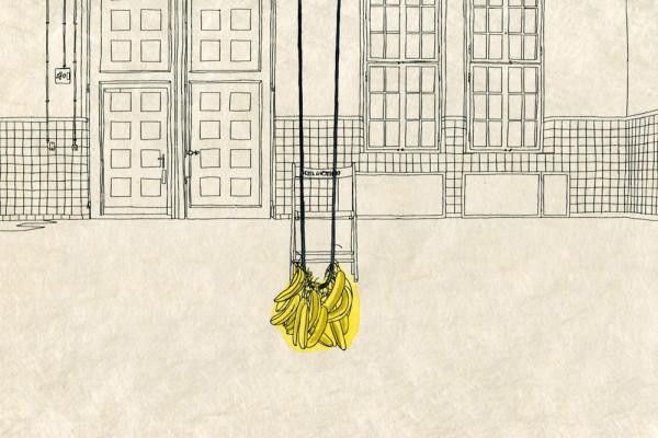 13. September 2014 Der Künstler Przemysaw Branas interessiert sich nicht für Kategorien wie «global» oder «lokal», ihn fasziniert der «geographische Blick», der erfasst, was in allernächster Nähe liegt.  Warum sein Auge am Performancefestival von Giswil schwingenden Bananen folgt, verstehe ich auch nicht ganz – aber schön ist es auf jeden Fall.