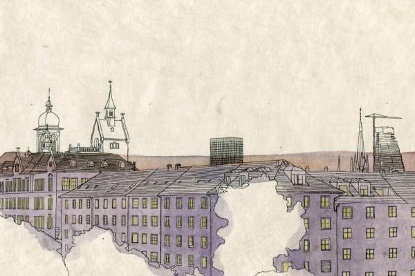 22. Oktober 2014 Bei meiner Rückkehr ist der grosse Turm von Herzog & de Meuron wieder ein Stück weiter in den Basler Himmel gewachsen. Der Bau ist hier in Basel schon seit Monaten Stadtgespräch – in Bangkok wäre diese Pyramide nicht viel mehr als «just another Tower».