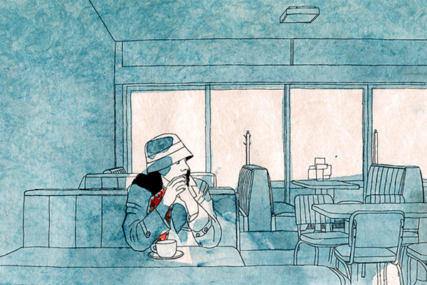 14. Januar 2015 Im Diner bei uns um die Ecke posiert Martina für die Kolumne von John Burnside. Darin kommt eine Frau vor, die ich für eine Reisende halte. Doch ich habe da was falsch gelesen. Zum Glück ist meine Freundin bereit, dann nochmals als Kellnerin zu posieren – natürlich ohne Hut.