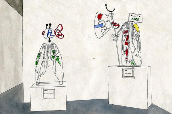 27. Februar 2015 Im Museo «Es Baluard d'Art Modern» in Palma di Mallorca entdecke ich Kostüme von Miró, die er für ein Theaterstück entworfen hat. Ob die Kostüme vom Mittelalterfestival, das diese Tage entlang der Stadtmauer tobt, wohl auch einst als Kunst den Weg ins Museum finden werden?