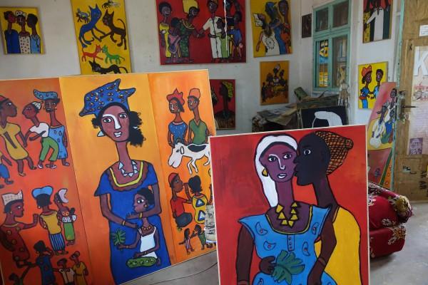 Eines der Künstlerateliers