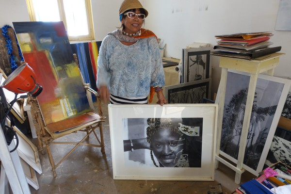 Künstlerin Bettye Webber mit «La belle Sénégalaise»